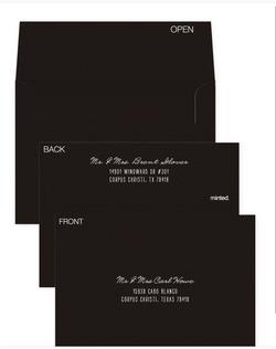 Envelope Design black and white