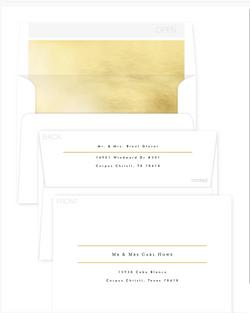 Envelope Design black,white and gold