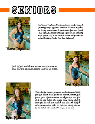 LHHS Swim Team Seniors