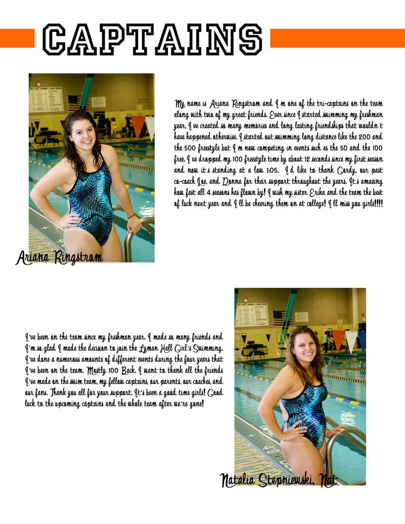 LHHS Swim Team Captains