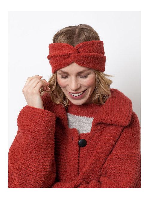 LN Knits Headband Brick Red