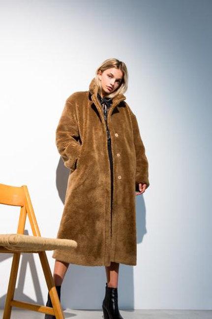 Rooney Teddy Coat Camel