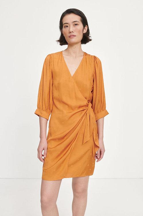 Celestina Wrap Dress Golden Ochre