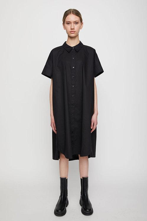 Noria Shirt Dress - Black