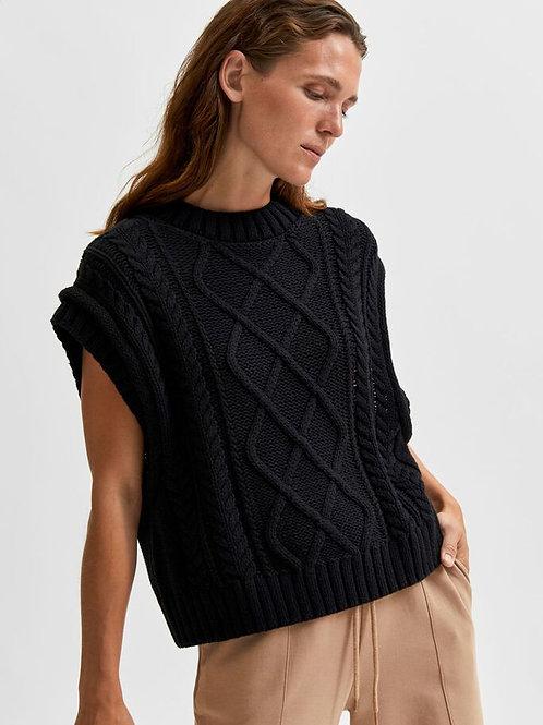 Piper Knit Vest - Black