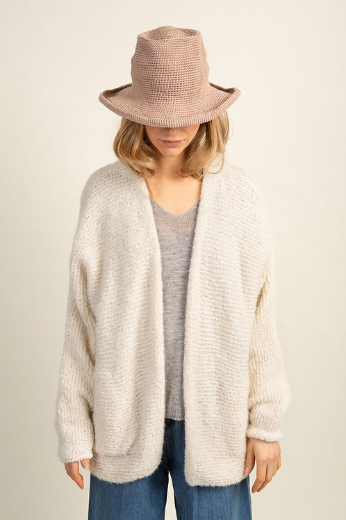 LN Knits Adorable Annie Off White