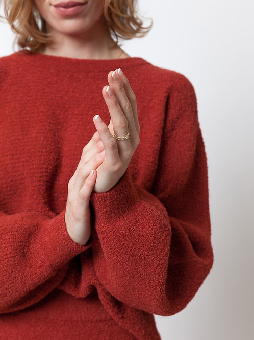 LN Knits Basic Billy Jumper Brick Red