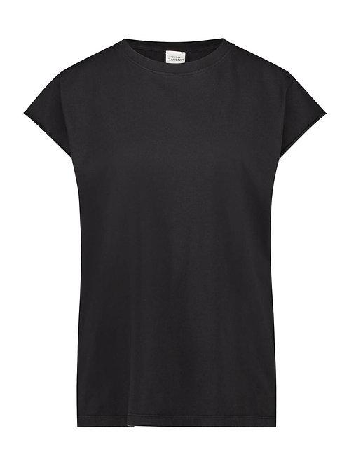 Cap Sleeve Tee - Black