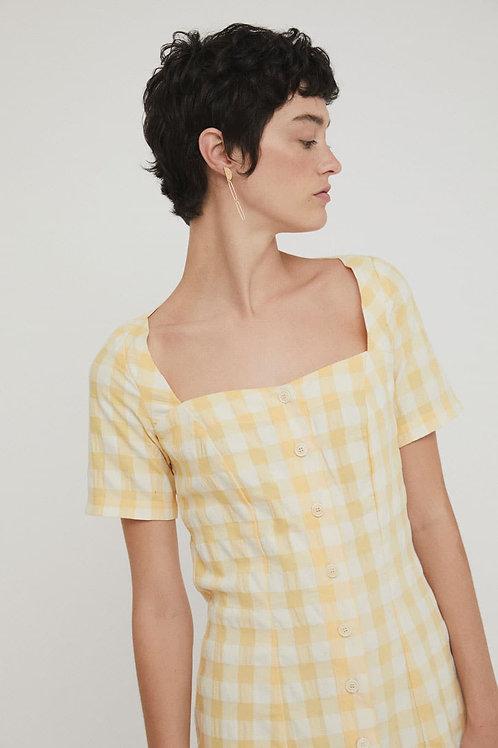 Maria Dress Yellow Check