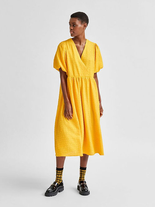 Midi Wrap Dress Citrus