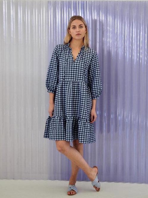 Loon Dress Blue Checks