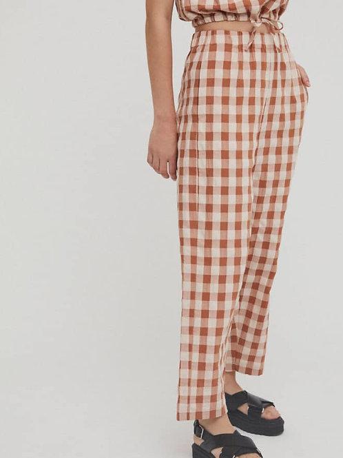 Alfi Brown Checks Pants