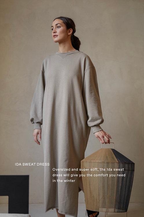 Ida Sweat Dress - Taupe
