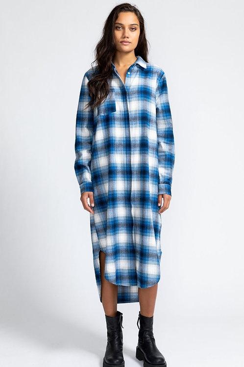 Manon Dress - Blue Checks