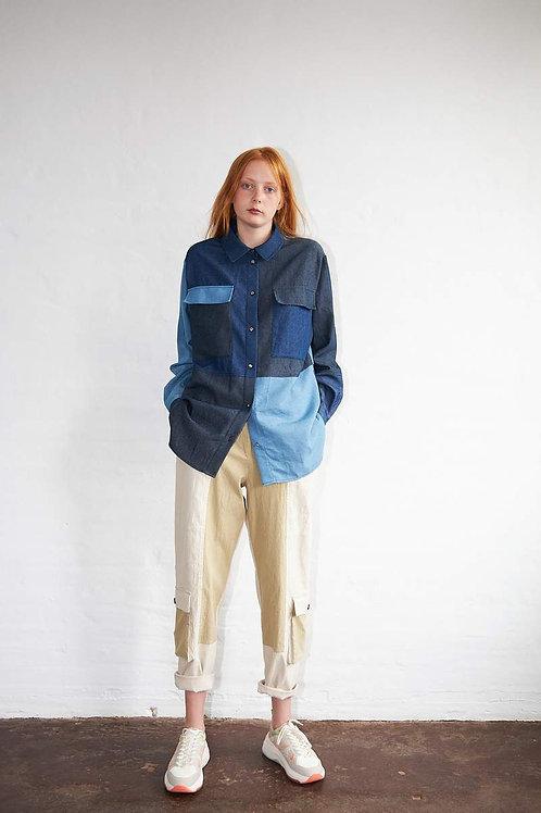 Lene Shirt Blue Mix
