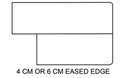 4 or 6 CM Eased Edge