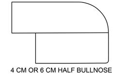 4 CM or 6 CM Half Bullnose