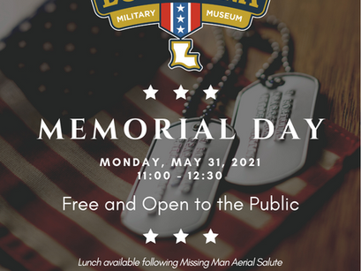 Louisiana Military Museum Hosts Memorial Day Commemoration