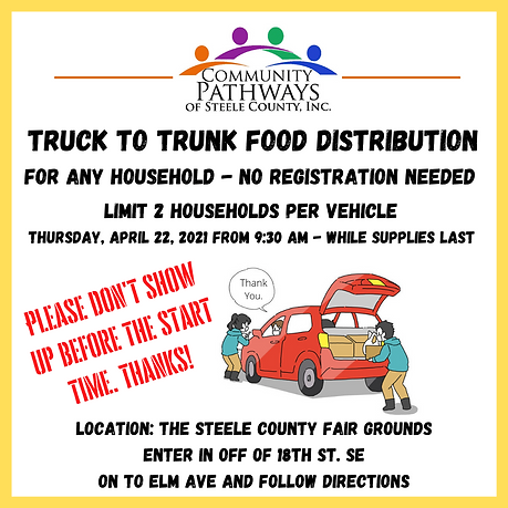 Truck to Trunk Food Distribution for any