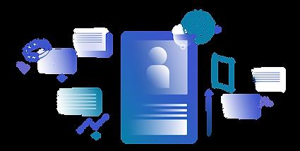 Multimedia grafik mit websitepaketen
