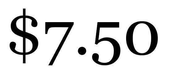 Service Fee $7.5