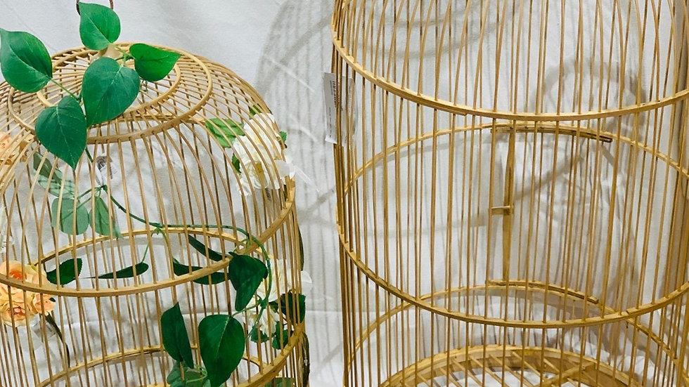 Cage en bambou décorative