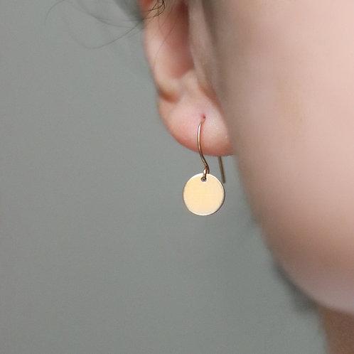 Spencer - Disc Earrings Smooth