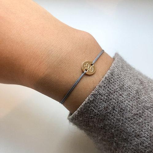 Gaby - Double Heart Fabric Bracelet