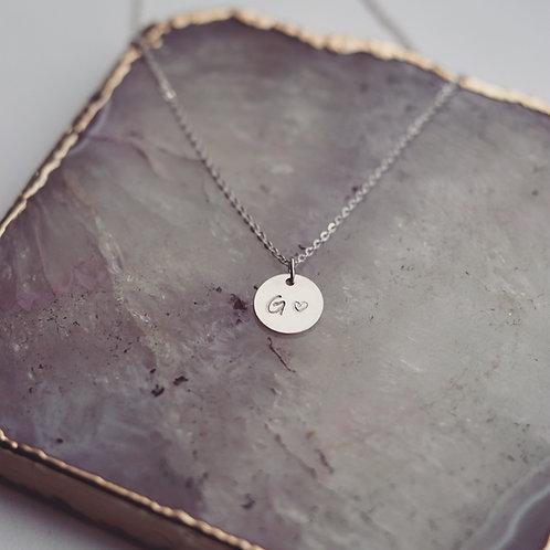 Denise - Initial Necklace Medium Heart