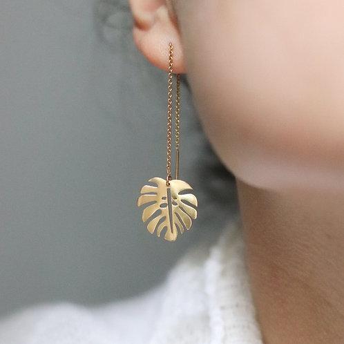Aloha - Tropical Leaf Earrings