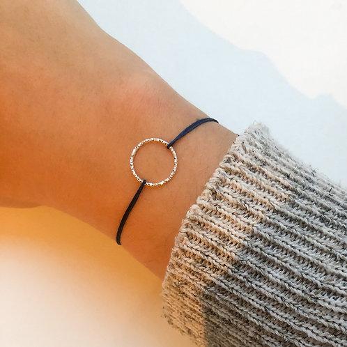 Francesca - Structured Circle Fabric Bracelet