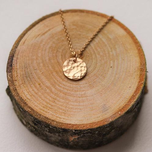 Spencer - Hammered Disc Necklace