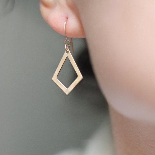 Alison - Rhomboid Earrings Smooth