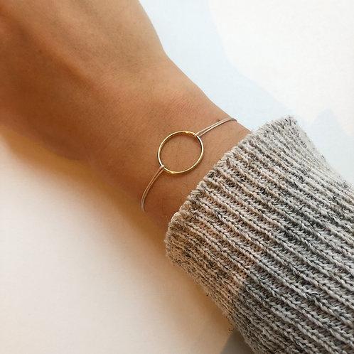 Francesca - Smooth Circle Fabric Bracelet