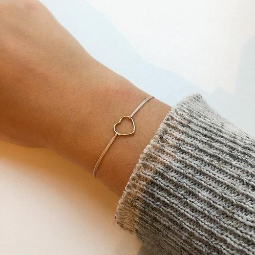 Sabrina - Heart Fabric Bracelet