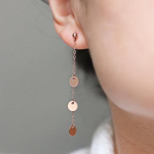 Amelia -Tiny Disc Earrings