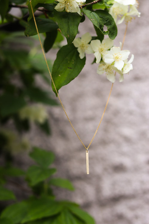 Emily - Gold Bar Necklace