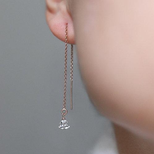 Lily - Herkimer Threader Earrings