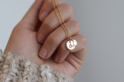 Ricarda - Personalized Initial Disc Necklace