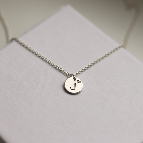Denise - Initial Necklace Small Heart