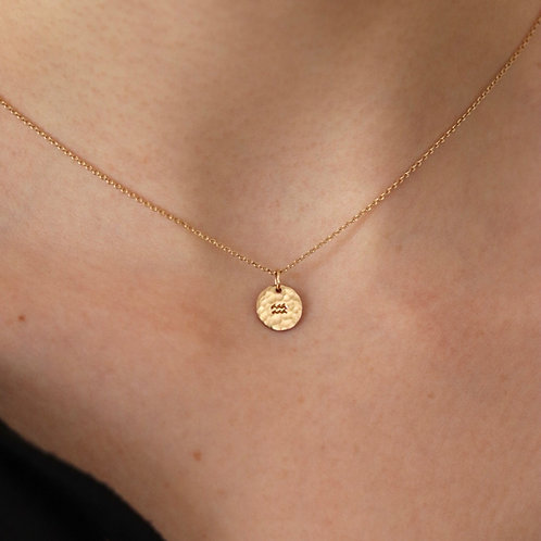 Nanni -Hammered Horoscope Necklace