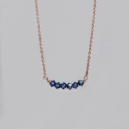 Phoebe - Crystal Bicone Necklace Delicate