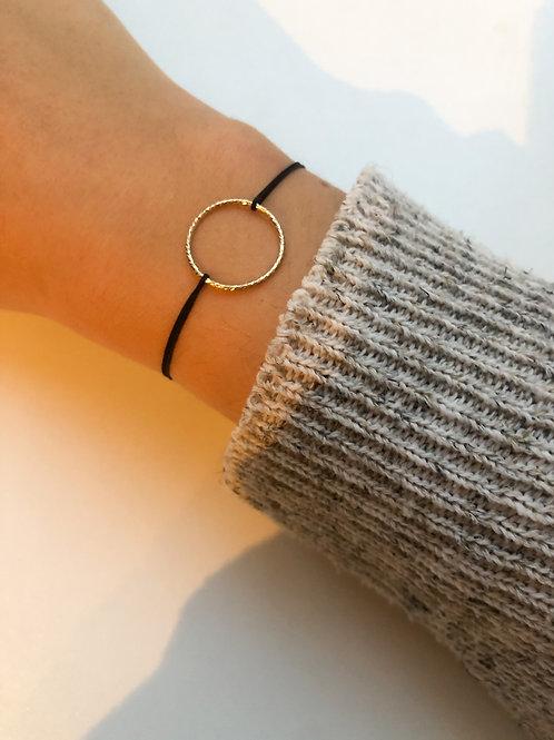 Francesca - Structured Circle Fabric Bracelet Large