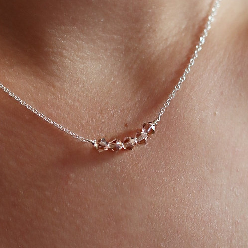 Phoebe - Swarovski Bicone Necklace Classic