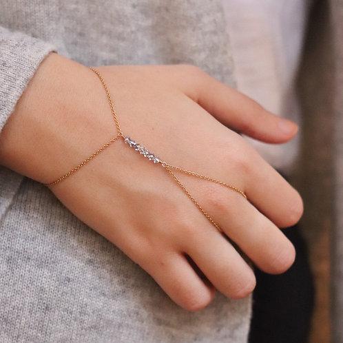 Sofia - Crystal Bicone  Handchain Delicate