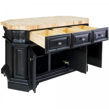 Kitchen Island 4 X 8 kitchen island empire collection (distressed blk