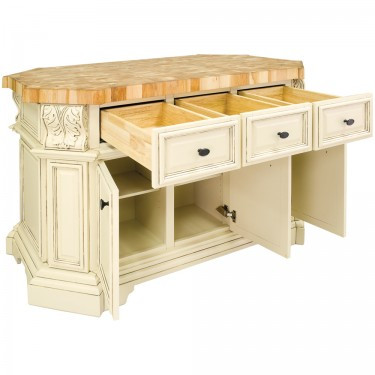 Kitchen Island 4 X 8 kitchen island empire collection (antique white