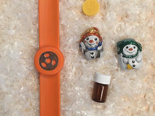 Duft-Schnapparmband oranger Fußball