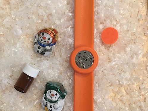 Duft-Schnapparmband oranges Einhorn