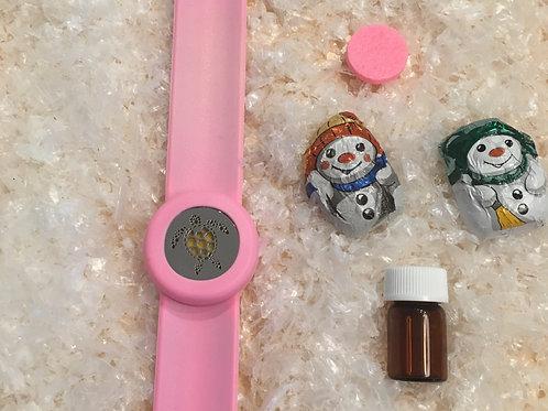 Duft-Schnapparmband rosa Schildkröte